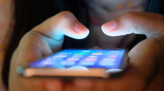 Women use mobile application software on smartphone phone