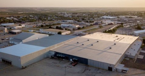 Aerial view of Texas facility