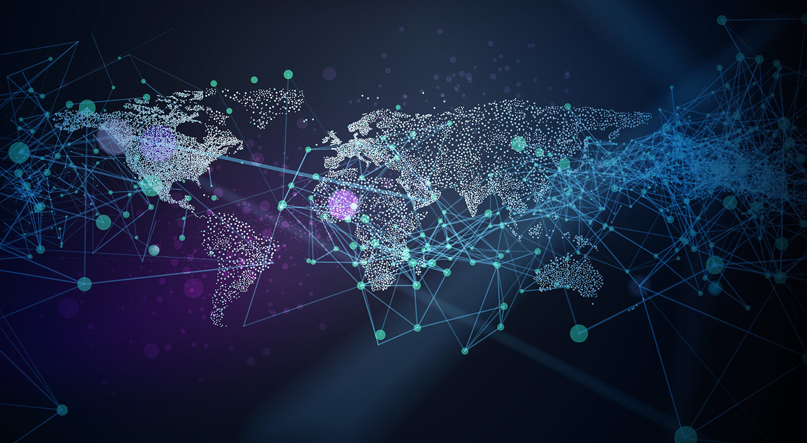 Abstract vector illustration of global network