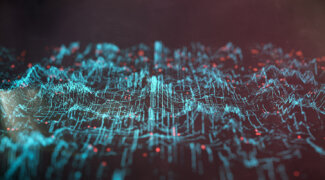 Abstract data landscape background
