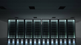 Illuminated Server Room